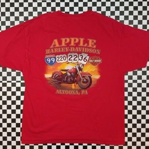 Harley Davidson Motorcycles Apple Altoona, PA Tee